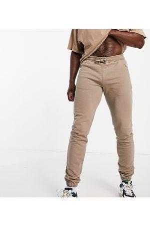 Bolongaro Tall Edmund zip detail jersey joggers-Neutral