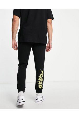 Topman Co-ord shadow print joggers in black
