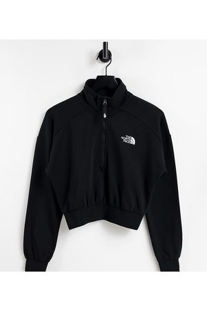 The North Face 1/4 zip fleece in black Exclusive at ASOS