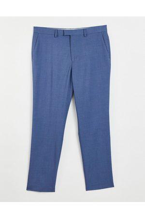 Topman Herren Hosen & Jeans - Slim fit suit trousers in blue