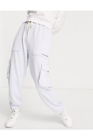 Replay Cargo pant joggers co ord in azure pastel blue