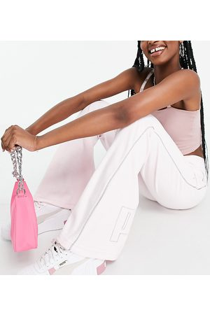 PUMA Damen Weite Hosen - Icons 2.0 fashion wide leg pants in pink
