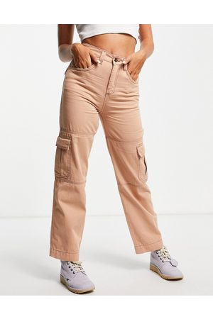 Kickers Damen Leggings & Treggings - Utility combat trousers with embroidered logo-Pink