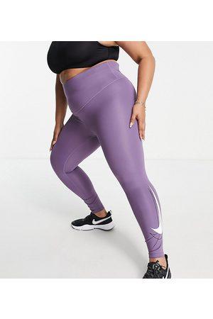 Nike Damen Leggings & Treggings - Plus Swoosh Dri-FIT 7/8 leggings in purple
