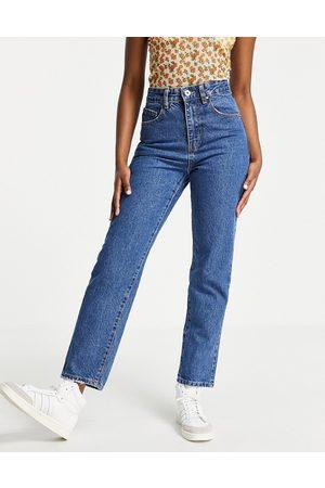 Cotton:On Damen Baggy & Boyfriend - Mom jeans in dark wash blue