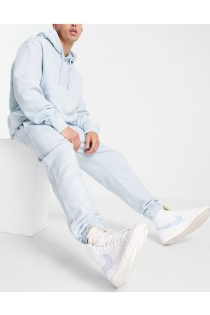 Topman Co-ord jogger in bleach washed blue