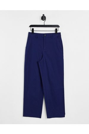 ASOS Wide fit chinos in navy