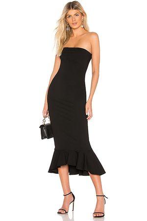 superdown Izzy Ruffle Maxi Dress in - . Size L (also in M, S, XL, XS, XXS).