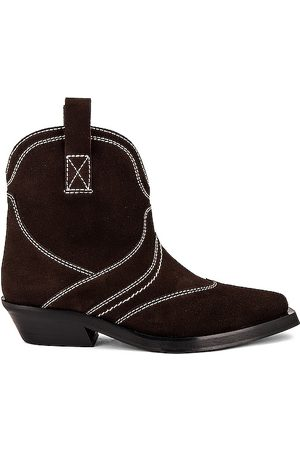 Ganni Low Shaft Western Boot in - Brown. Size 36 (also in 37, 38, 39, 40).