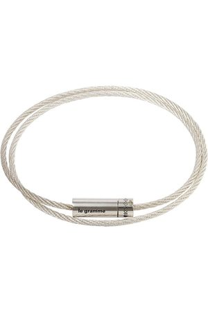 Le Gramme Herren Armbänder - SILV 9G POLSHED DBL CABLE BRCL