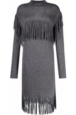Pinko Damen Strickkleider - Fringe-detail knitted dress
