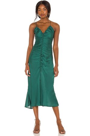 Free People Nothing Better Midi Slip in - Green. Size L (also in M, S, XS).