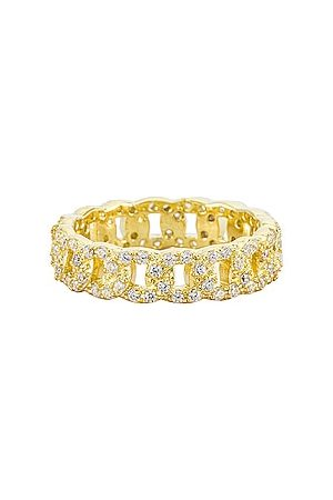 The M Jewelers NY Chain Ring in - Metallic . Size 5 (also in 6, 7, 8).