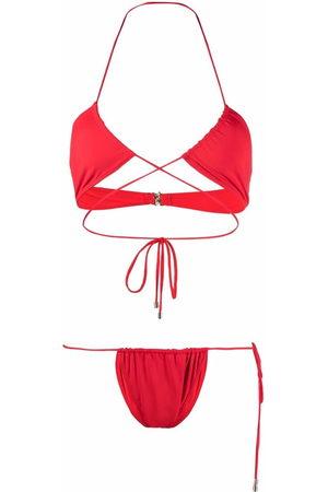 Manokhi Wrap-around halterneck bikini