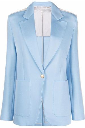Palm Angels Side-stripe buttoned blazer