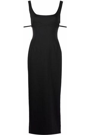 Jacquemus Valdu strap detail maxi dress