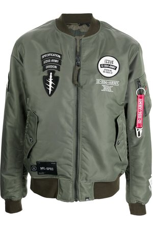 izzue Multiple patch bomber jacket
