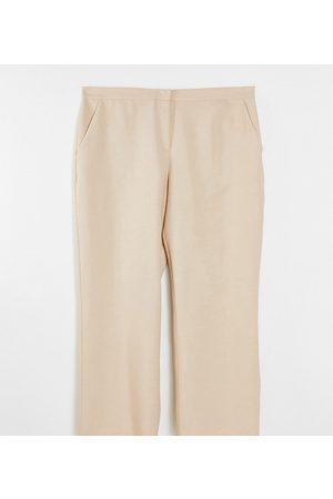 ASOS ASOS DESIGN Curve ultimate straight leg trouser in mink-Neutral