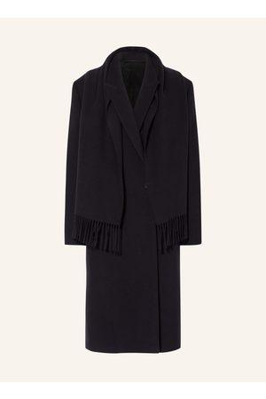 Balenciaga Herren Blazer & Sakkos - Mantel Mit Fixiertem Überwurf blau