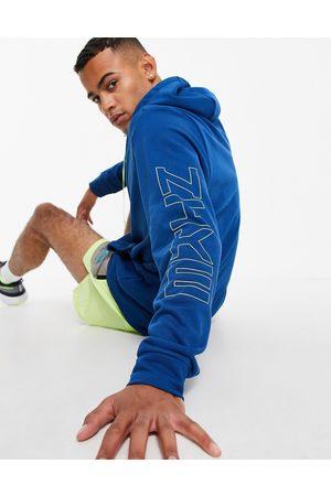 Nike Training Sport Clash zip through hoodie in blue