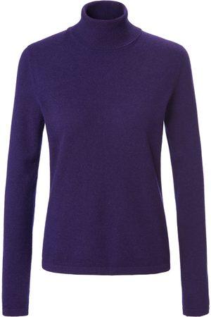 Peter Hahn Rollkragen-Pullover aus 100% Premium-Kaschmir lila