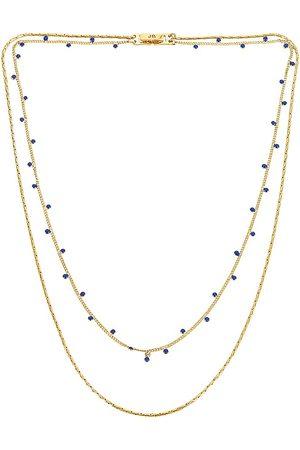 Jenny Mavi Layered Necklace in - Metallic . Size all.