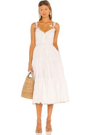Tularosa Poppy Midi Dress in - Ivory. Size L (also in XS, S, M).
