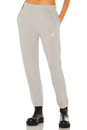 ANINE BING Sport Evan Jogger in - Light Grey. Size L (also in XS, S, M).