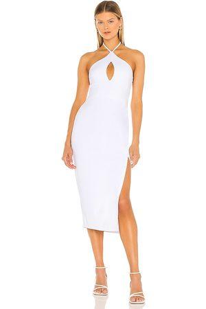 Susana Monaco Damen Midikleider - Halter Open Front Midi Dress in - White. Size L (also in XS, S, M).