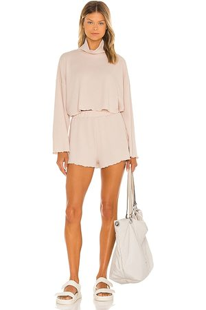 ALL THE WAYS Sylvia Short Set in - Nude. Size L (also in XXS, XS, S, M, XL).