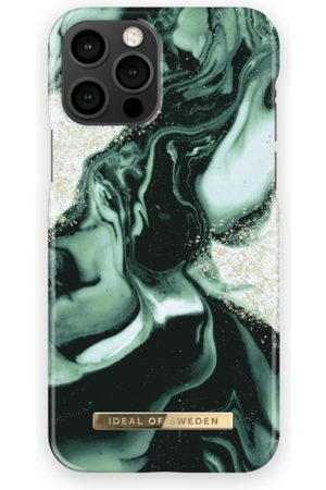 IDEAL OF SWEDEN Handy - Fashion Case iPhone 12 Pro Golden Olive Marble