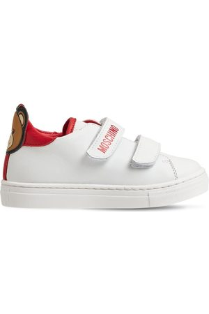 Moschino Ledersneakers Mit Teddybär