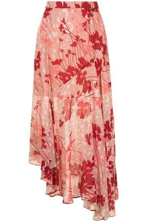 TWINSET Damen Bedruckte Röcke - Floral print asymmetric fluid skirt