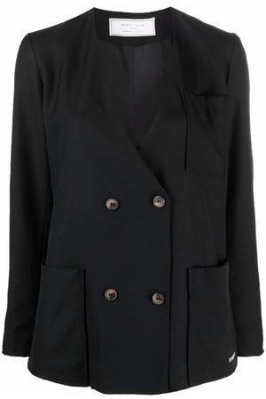 Société Anonyme Double-breasted wool blazer