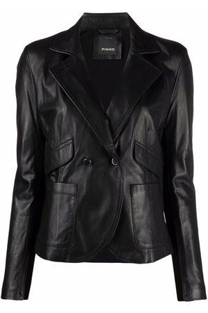 Pinko Damen Lederjacken - Double-breasted leather jacket