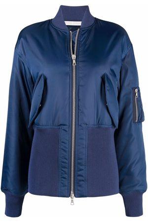 Palm Angels Damen Sommerjacken - Ribbed-hem bomber jacket