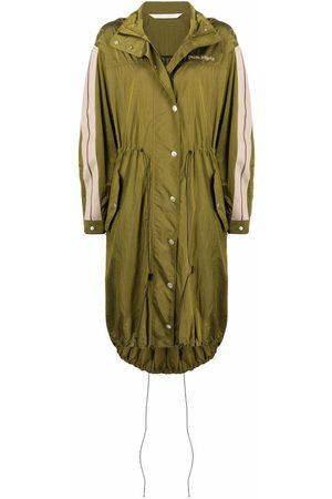 Palm Angels Side-stripe hooded coat