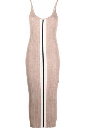 Palm Angels Damen Freizeitkleider - Stripe detail knitted dress