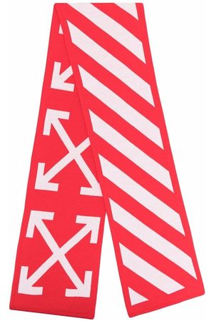 OFF-WHITE ARROWS SCARF RED WHITE