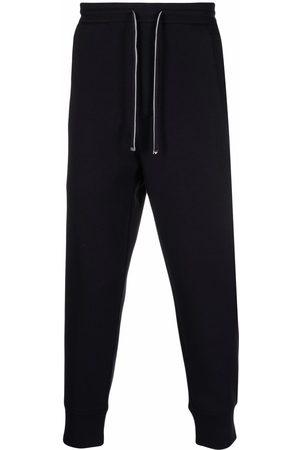 Emporio Armani Tapered-leg solid trackpants