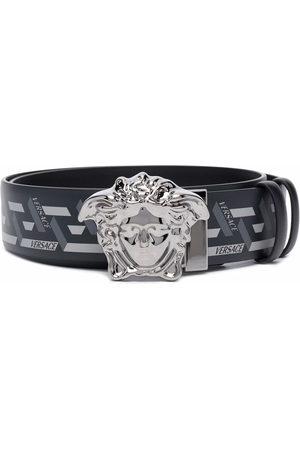Versace Herren Gürtel - Medusa Head Greca-print belt
