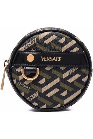 Versace La Greca circle coin pouch