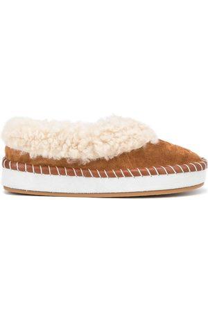 Tory Burch Damen Halbschuhe - Logo-embossed shearling slippers
