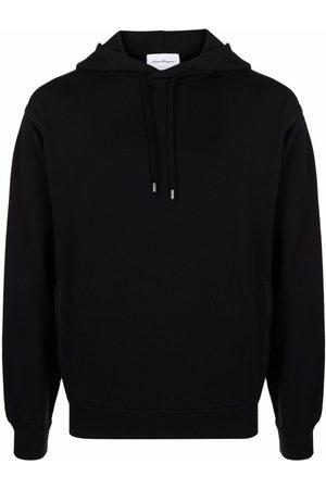 Salvatore Ferragamo Herren Sweatshirts - Long-sleeved cotton hoodie