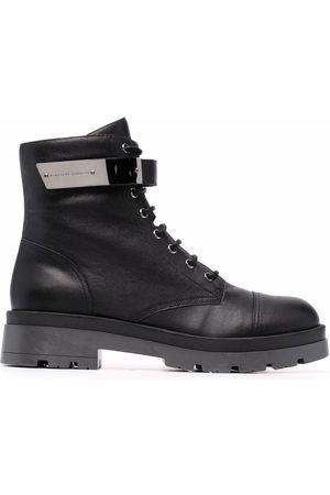 Giuseppe Zanotti Herren Stiefel - Engraved-logo lace-up boots