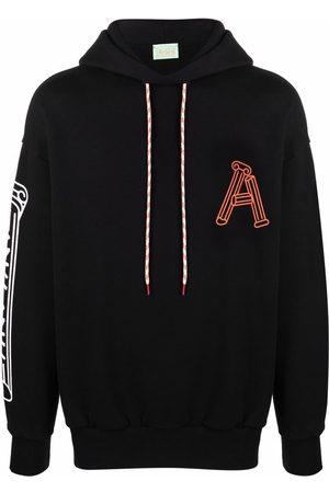 Aries Greek Column-print cotton hoodie