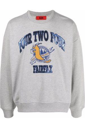 424 Embroidered varsity-style sweatshirt
