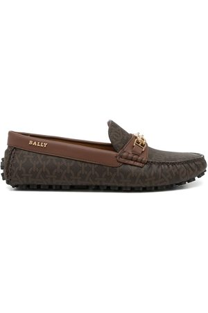 Bally Lezy monogram loafers
