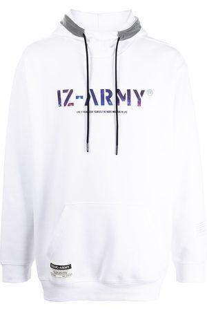 izzue Logo-print pullover hoodie