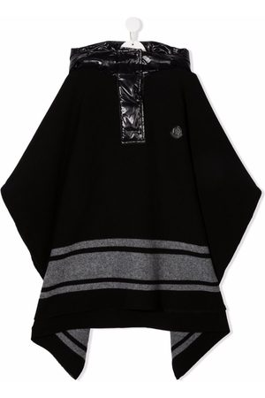 Moncler Enfant TEEN hooded cape coat